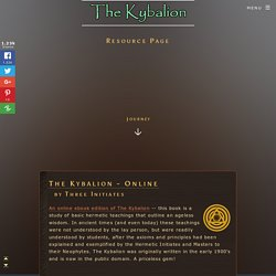 The Kybalion Resource Page
