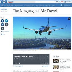 The Language of Air Travel
