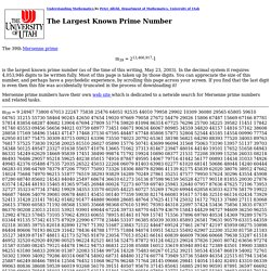 The Largest known prime number