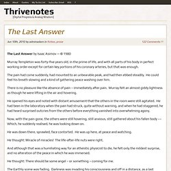 The Last Answer | Thrivenotes
