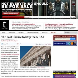 The Last Chance to Stop the NDAA