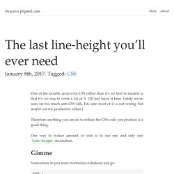 The last line-height you'll ever need