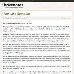 The Last Question | Thrivenotes