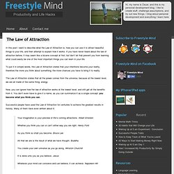 The Law of Attraction - StumbleUpon