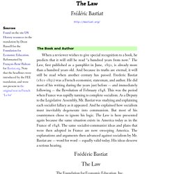 The Law, by Frederic Bastiat