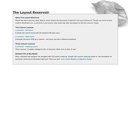CSS Layout Reservoir - BlueRobot