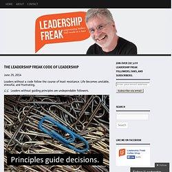 The Leadership Freak Code of Leadership