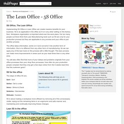 The Lean Office - 5S Office