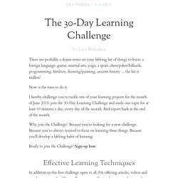 The 30-Day Learning Challenge