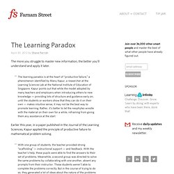The Learning Paradox