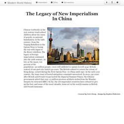 The Legacy of New Imperialism In China