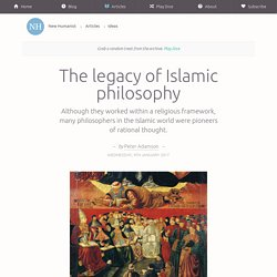 The legacy of Islamic philosophy