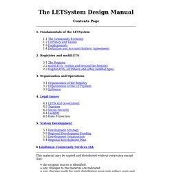 The LETSystem Design Manual