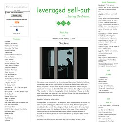 The Leveraged Sell-Out