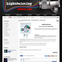 Le Kit pour debuter le LightPainting