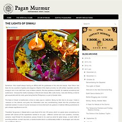 The Lights of Diwali ~ Pagan Murmur