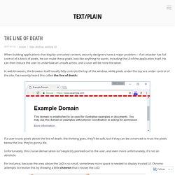 The Line of Death – text/plain