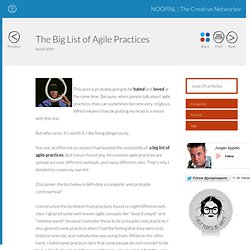 The Big List of Agile Practices