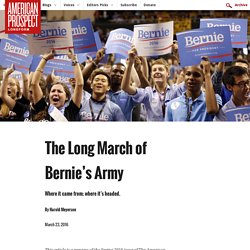 The Long March of Bernie's Army