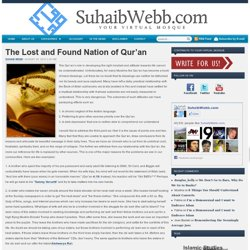 The Lost and Found Nation of Qur'an