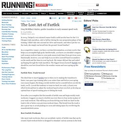 The Lost Art of Fartlek