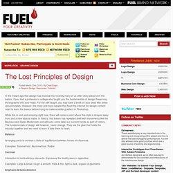 The Lost Principles of Design