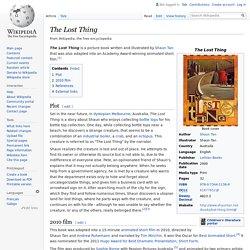 Shaun Tan - The Lost Thing