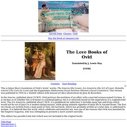 The Love Books of Ovid Index