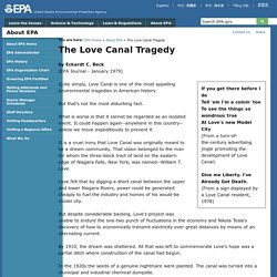 The Love Canal Tragedy