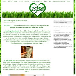 The Love-Vegan Survival Guide
