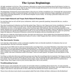 The Lyran Beginnings