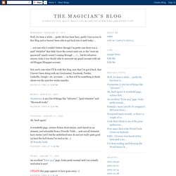 The Magician's Blog