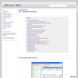 04. The Main Screen - yWriter Wiki