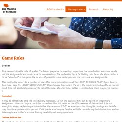 The Making of Meaning » Game Rules