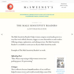 The Male Sensitivity Reader©