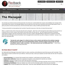 The Managed - Redback Webinars