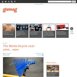 The Manta bicycle seat - umm... wow