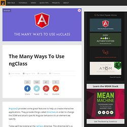 The Many Ways To Use ngClass