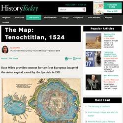 La première carte européenne de Tenochtitlan, 1524