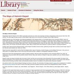 The Maps of Heinrich Kiepert