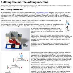 The marble adding machine