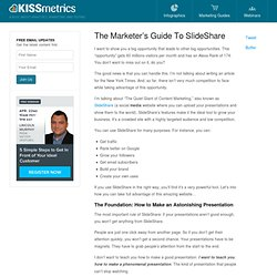The Marketer's Guide To SlideShare