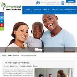 The Marriage Advantage