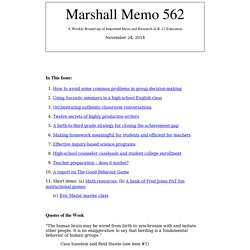 The Marshall Memo Admin - Issues