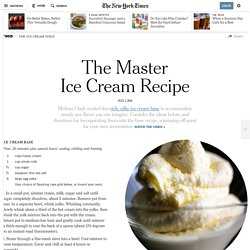The Master Ice Cream Recipe