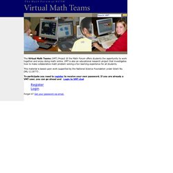 The Math Forum - Virtual Math Teams