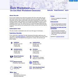 The Math Worksheet Site.com