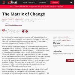 The Matrix of Change