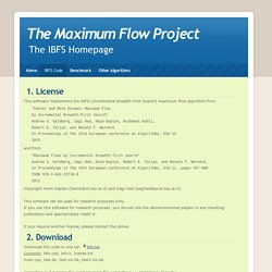 The Maximum Flow Project