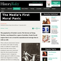 The Media's First Moral Panic